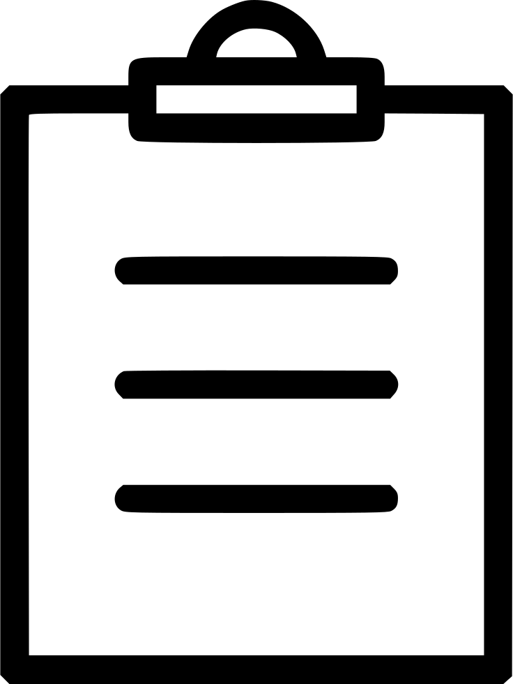 Clipboard checklist png. List text inventory svg