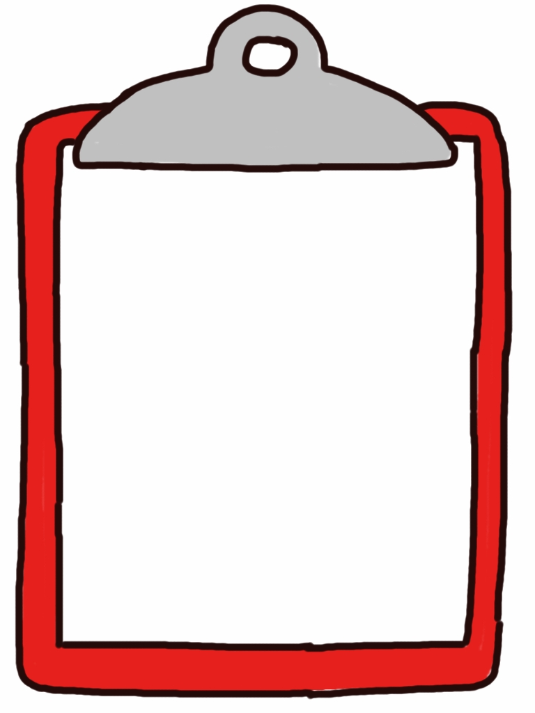 Clipboard clipart. Unique design digital collection