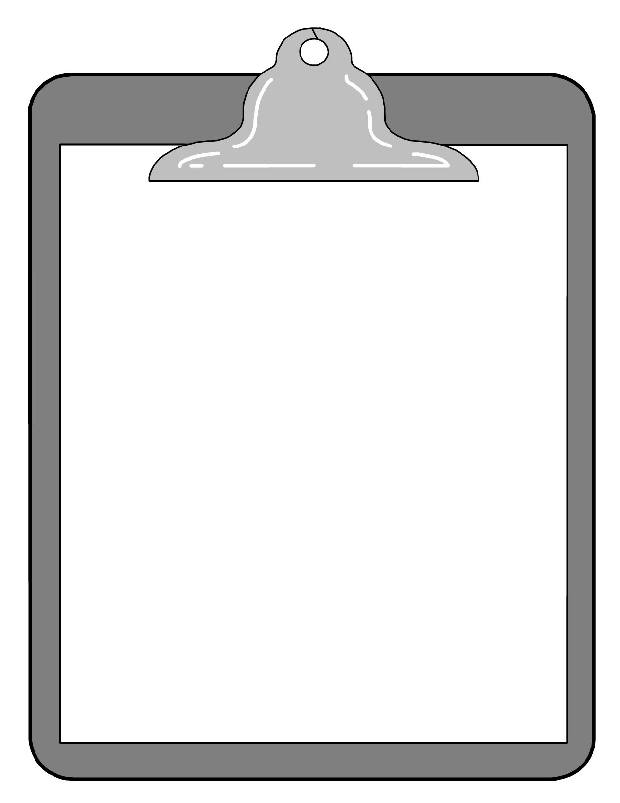 Clipboard clipart frame. Elegant of black and