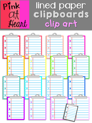 Clipboard clipart lined page. Paper clipboards clip art