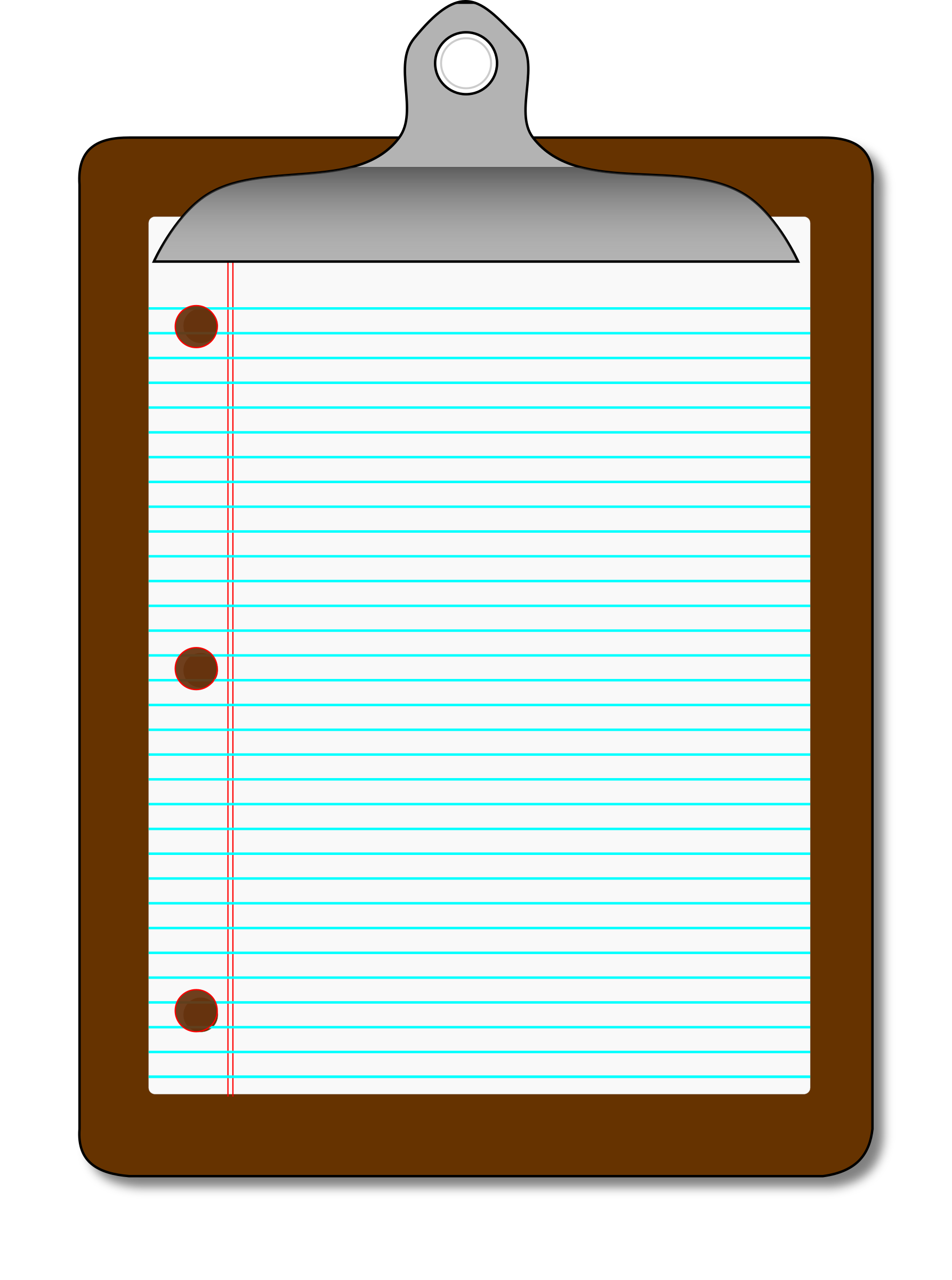 Clipboard clipart lined page. Paper big image png