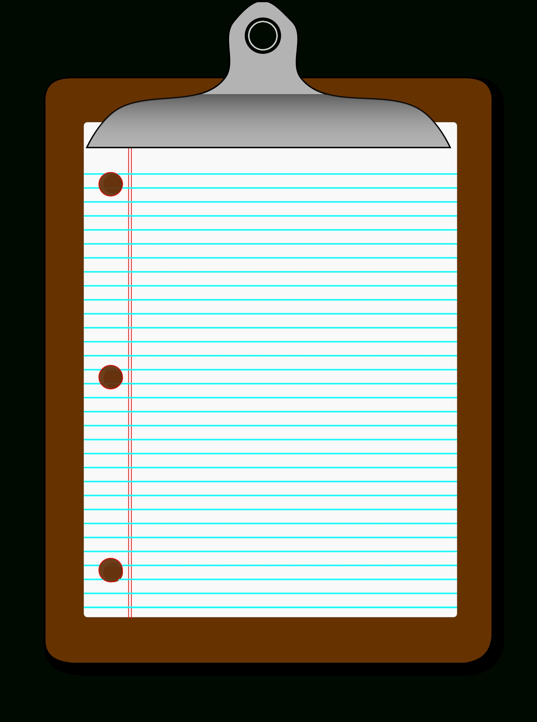 Clipboard clipart lined paper. With kind of letters