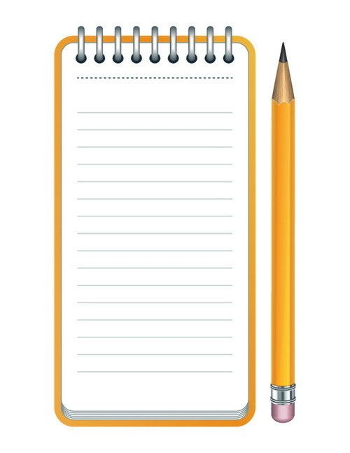 Clipboard clipart lined paper. And pencil clip art
