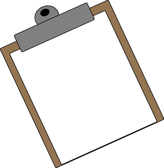Transparent clipboard blank. Clip art vector image