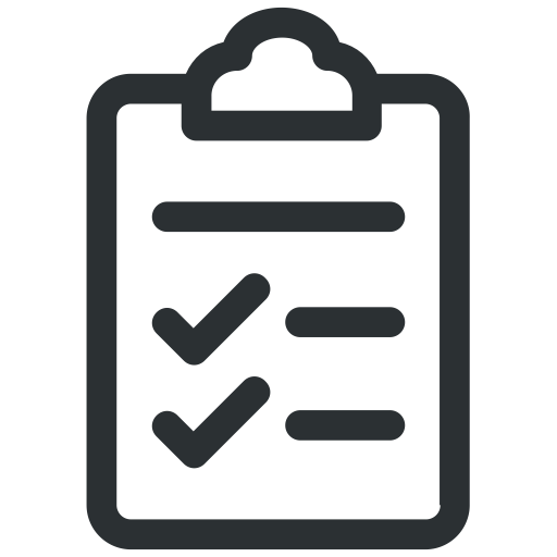 Clipboard clipart tick. Check list document icon