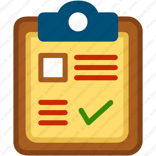 Clipboard clipart tick. Download page paper list