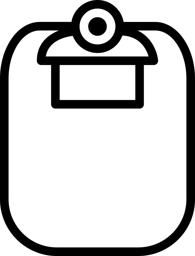 Clipboard drawing. Empty white svg png