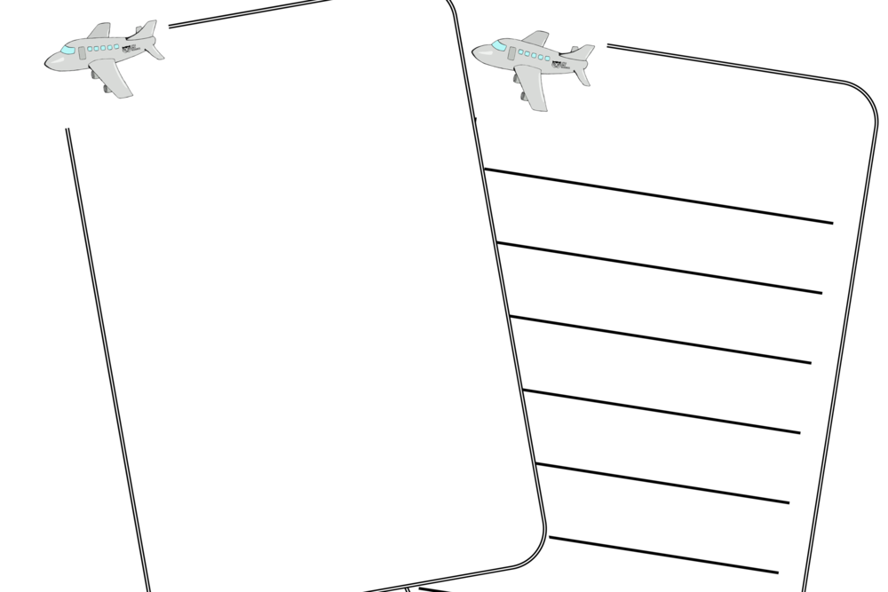 Transparent clipboard blank. Free aeroplane transport holiday