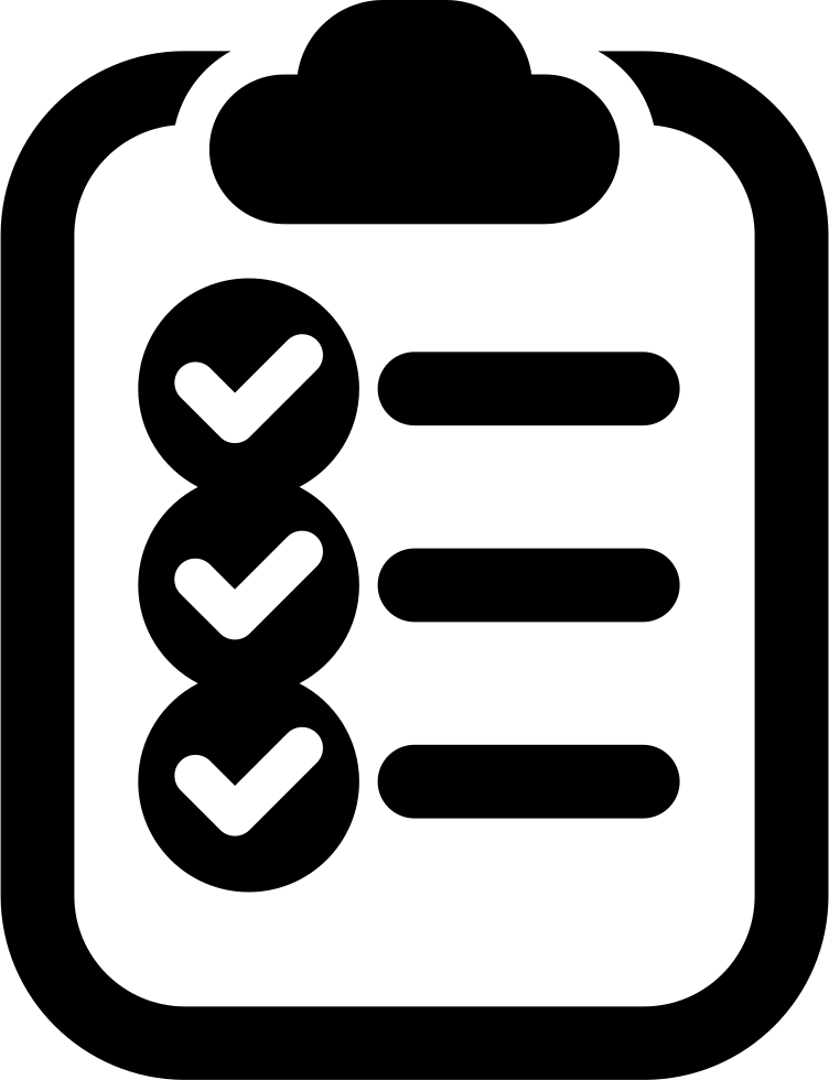 Transparent clipboard checklist. On svg png icon