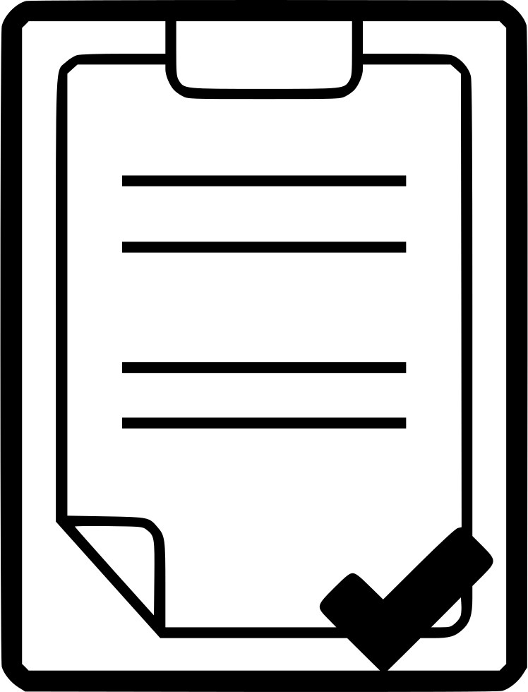 Clipboard drawing large. Checked svg png icon