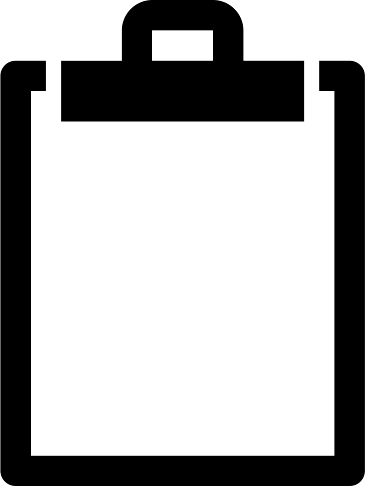 Clipboard drawing large. Svg png icon free