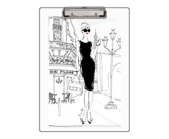Clipboard drawing board. Paris clip boards personalized