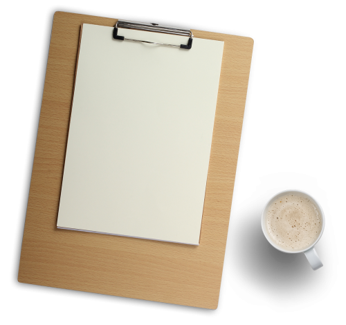 Clipboard png. Wood and coffee cup