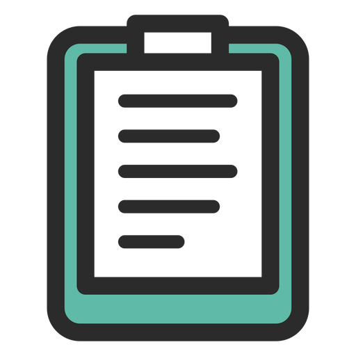 Clipboard png transparent. Sports colored stroke icon