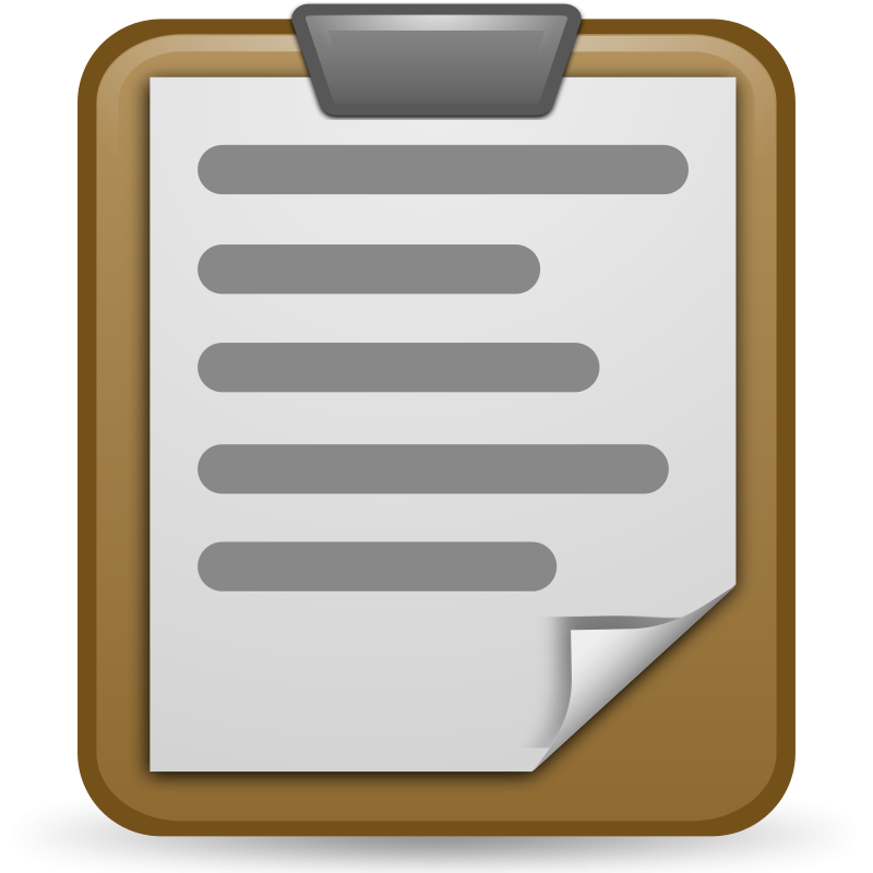 Transparent clipboard animated