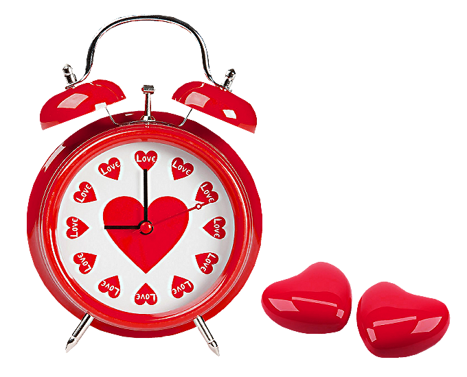 Clock clipart heart. Red hearts love png