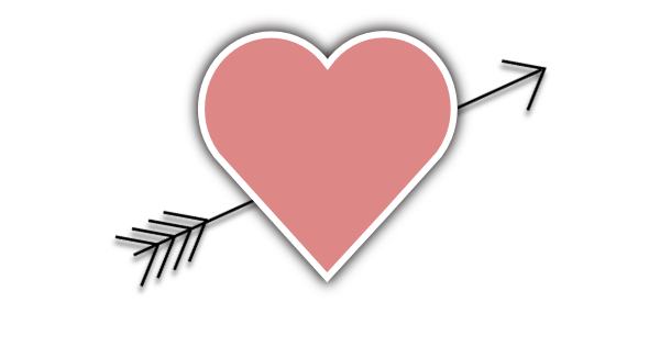 Clock clipart heart. With arrow