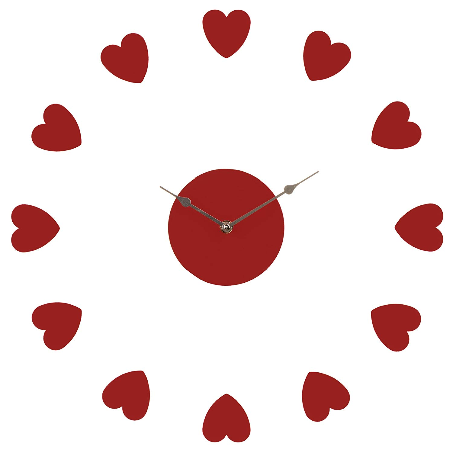 Clock clipart heart. Premier housewares diy wall