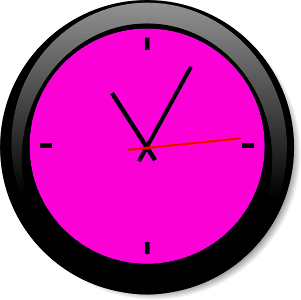Clock clipart purple. Pink a free images