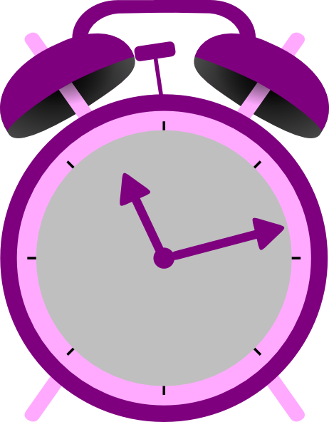 Clock clipart purple. Pencil and in color