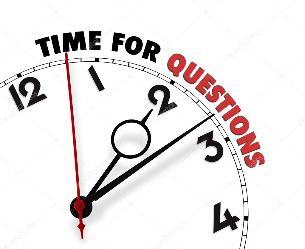 Clock clipart question. White with words time
