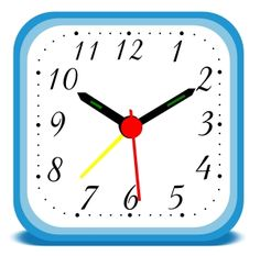 Clock clipart square. Clip art kid playing