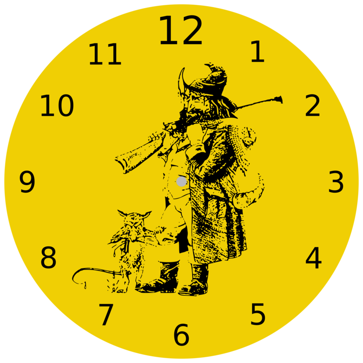Clock clipart yellow. A trick of the