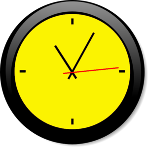 Clock clipart yellow. A free images at