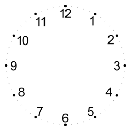 Clock numbers png. Make a css analog