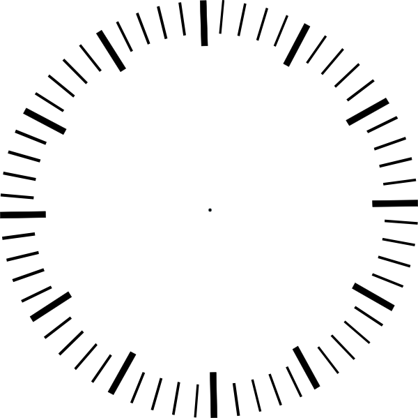 Clock no hands png. With minute ticks clip