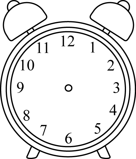 Clock no hands png. Black and white alarm