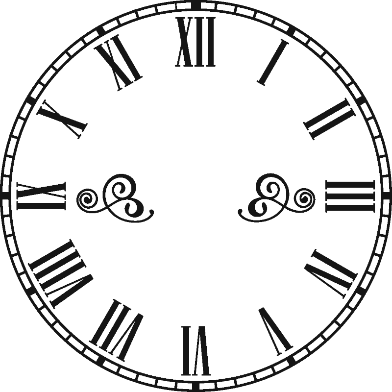 Clock numbers png. Wall decals with roman