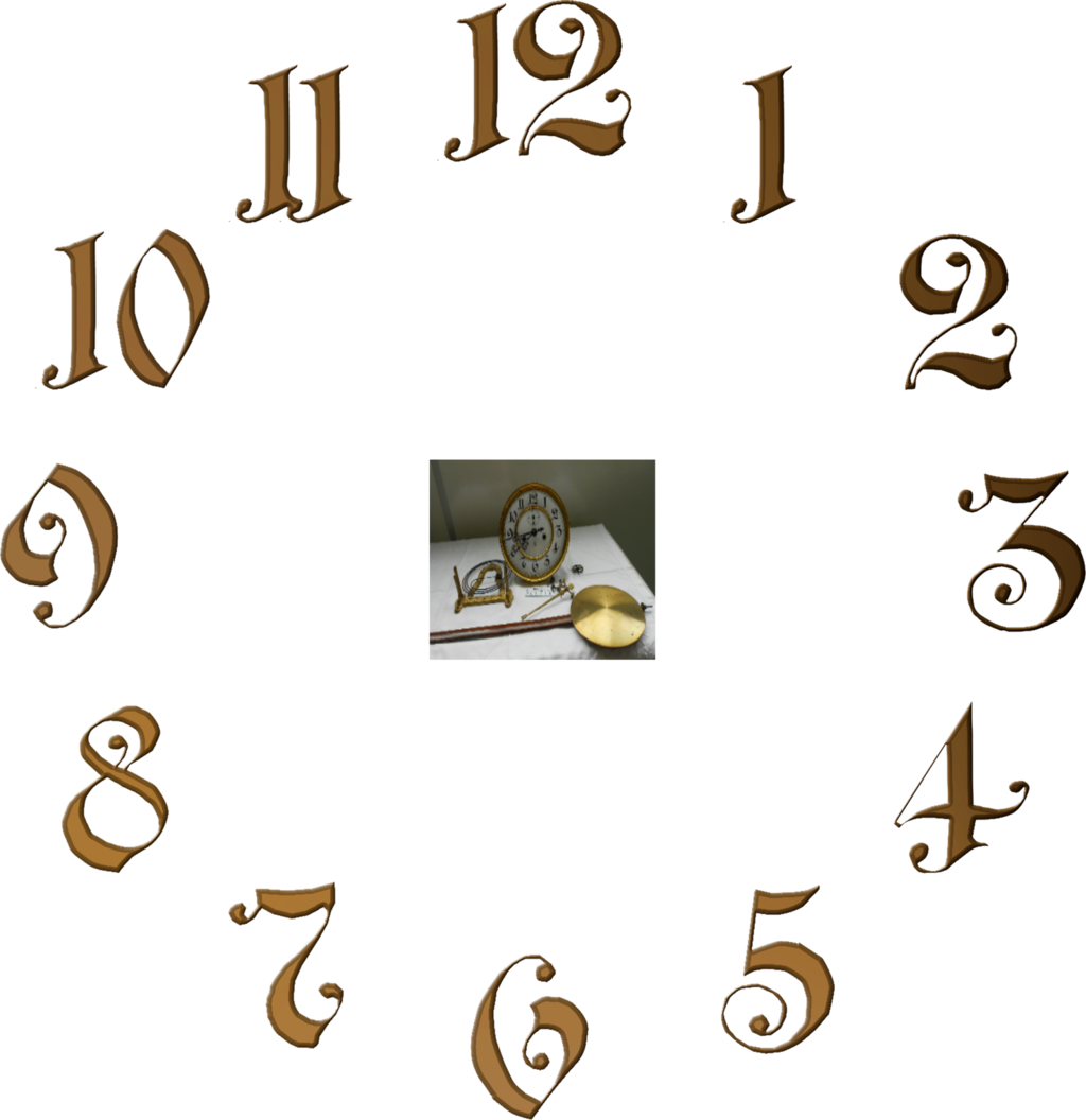 Clock numbers png. Dial by magicsart on