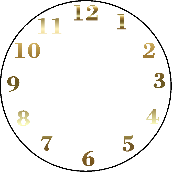 Clock numbers png. Face digital time clip