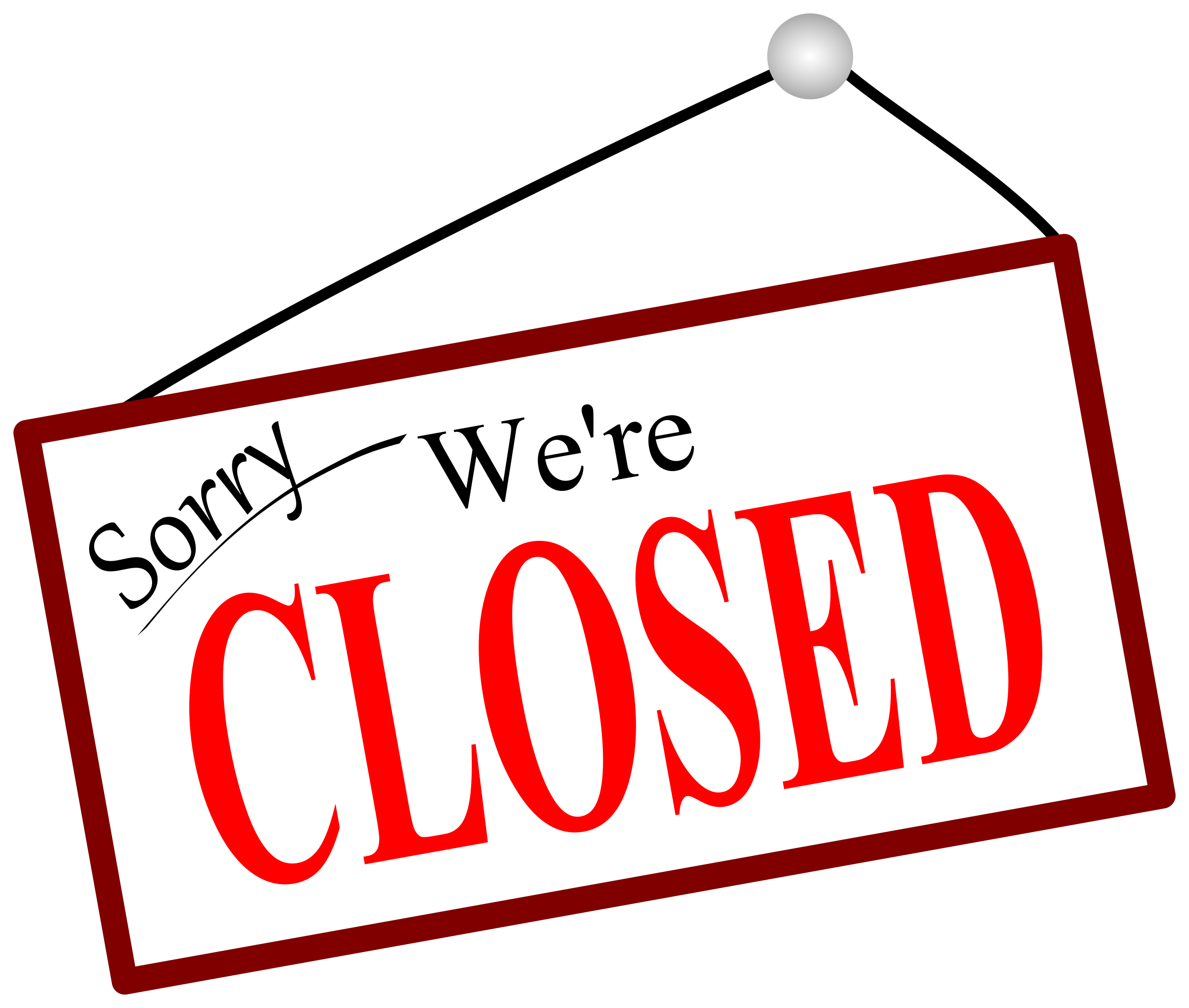 closed sign png