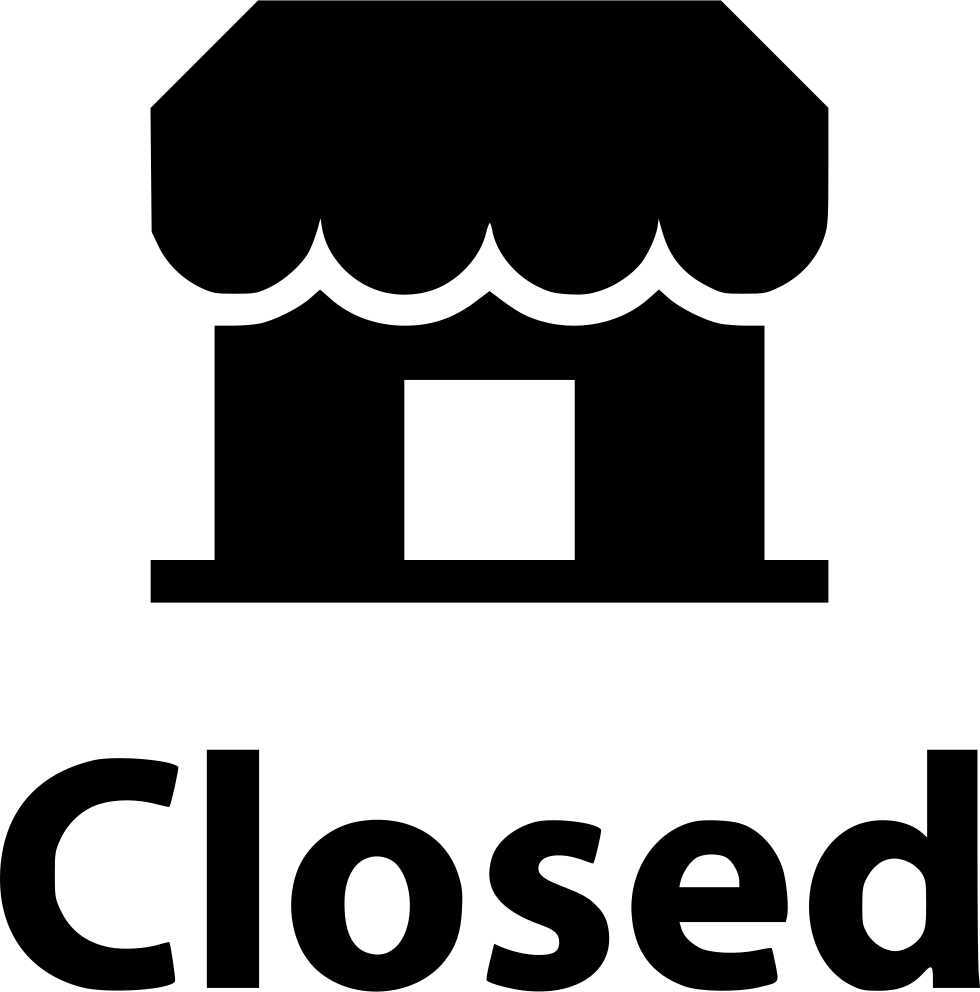 Closed clipart business closed. Store small svg png