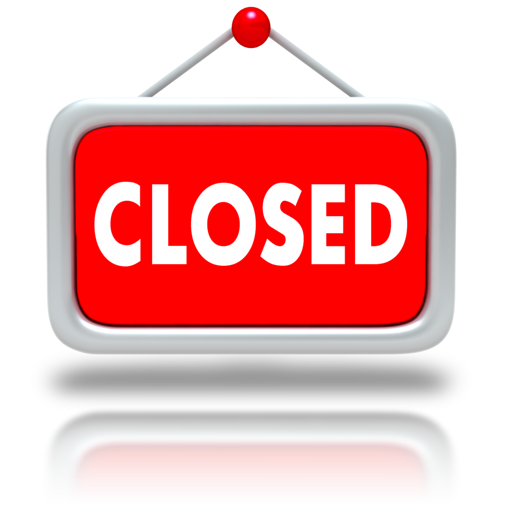 Closed clipart business closed. Registration strategic academy