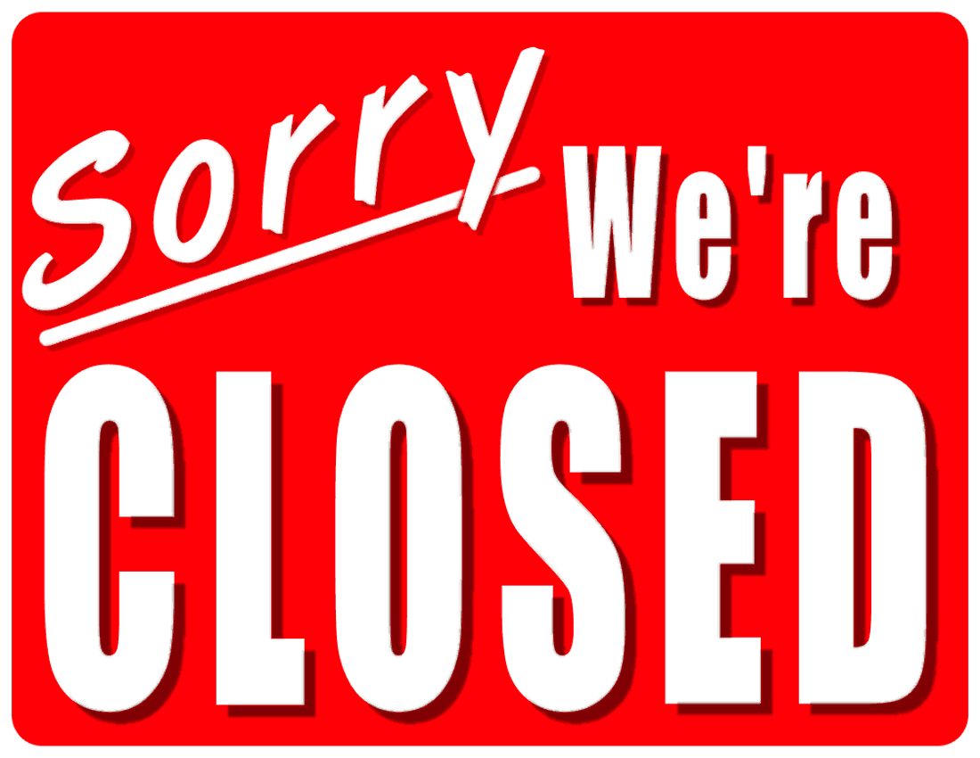 Closed clipart business closed.