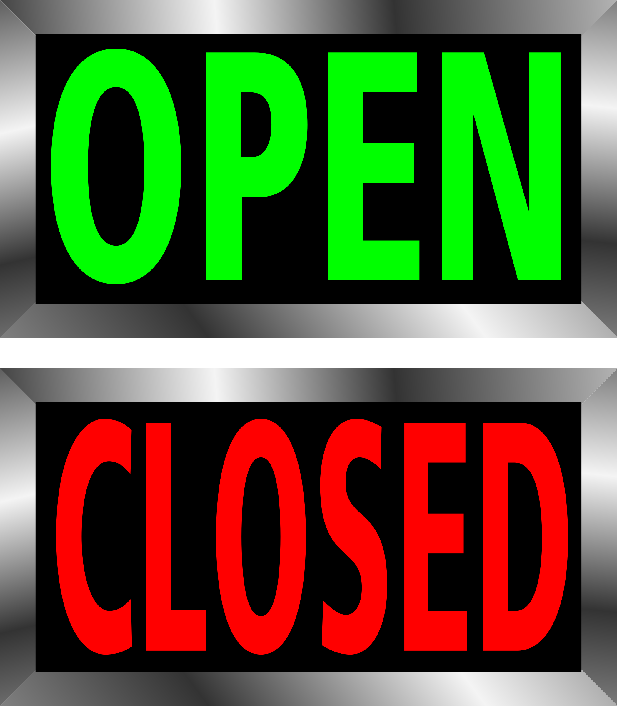 Closed clipart open. And signs big image