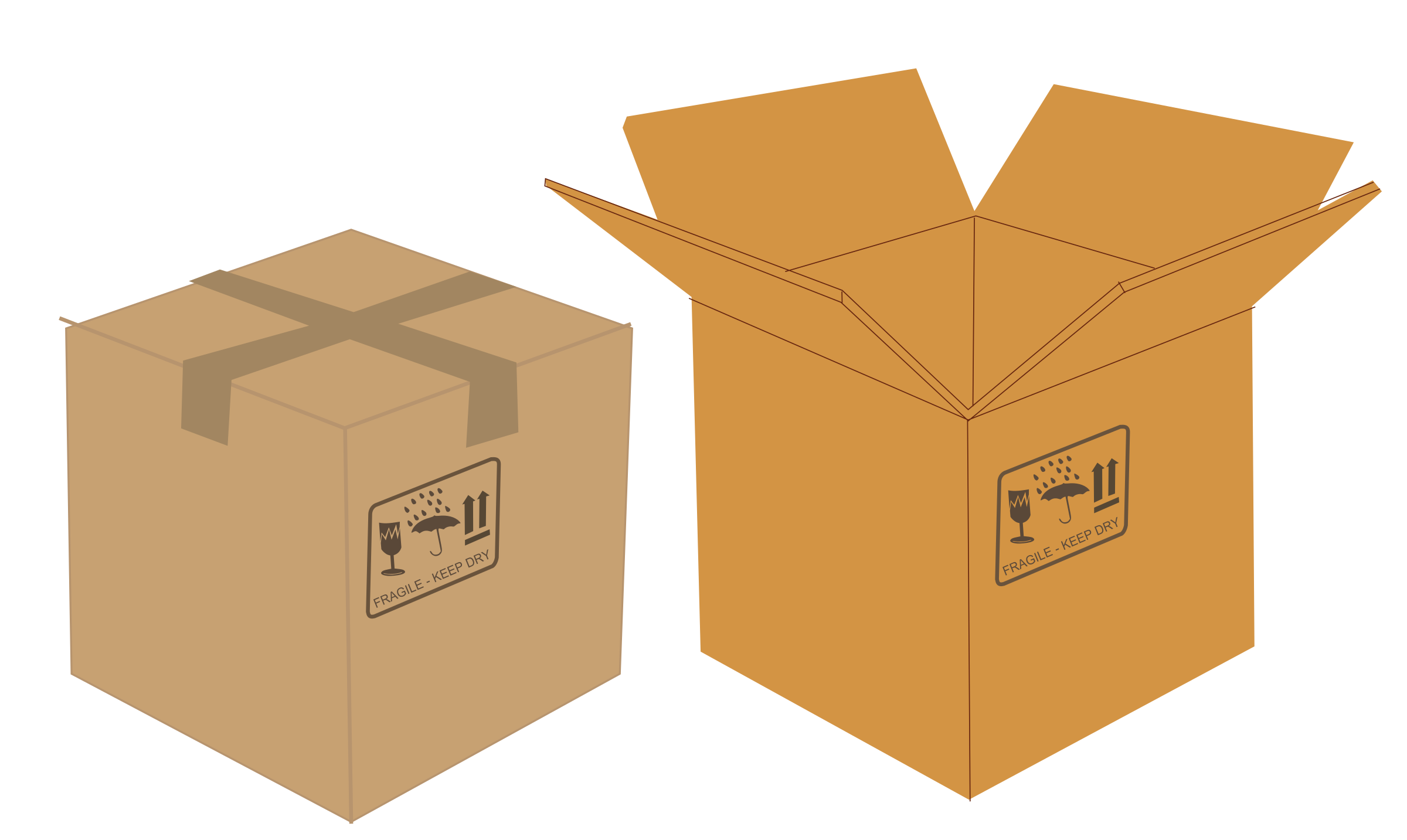 Boxes png. Clipart open and closed