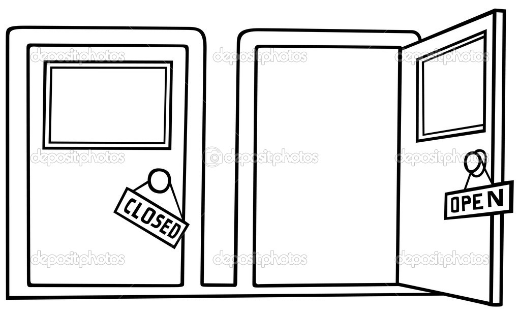 Closed clipart open. Awesome doors with simple