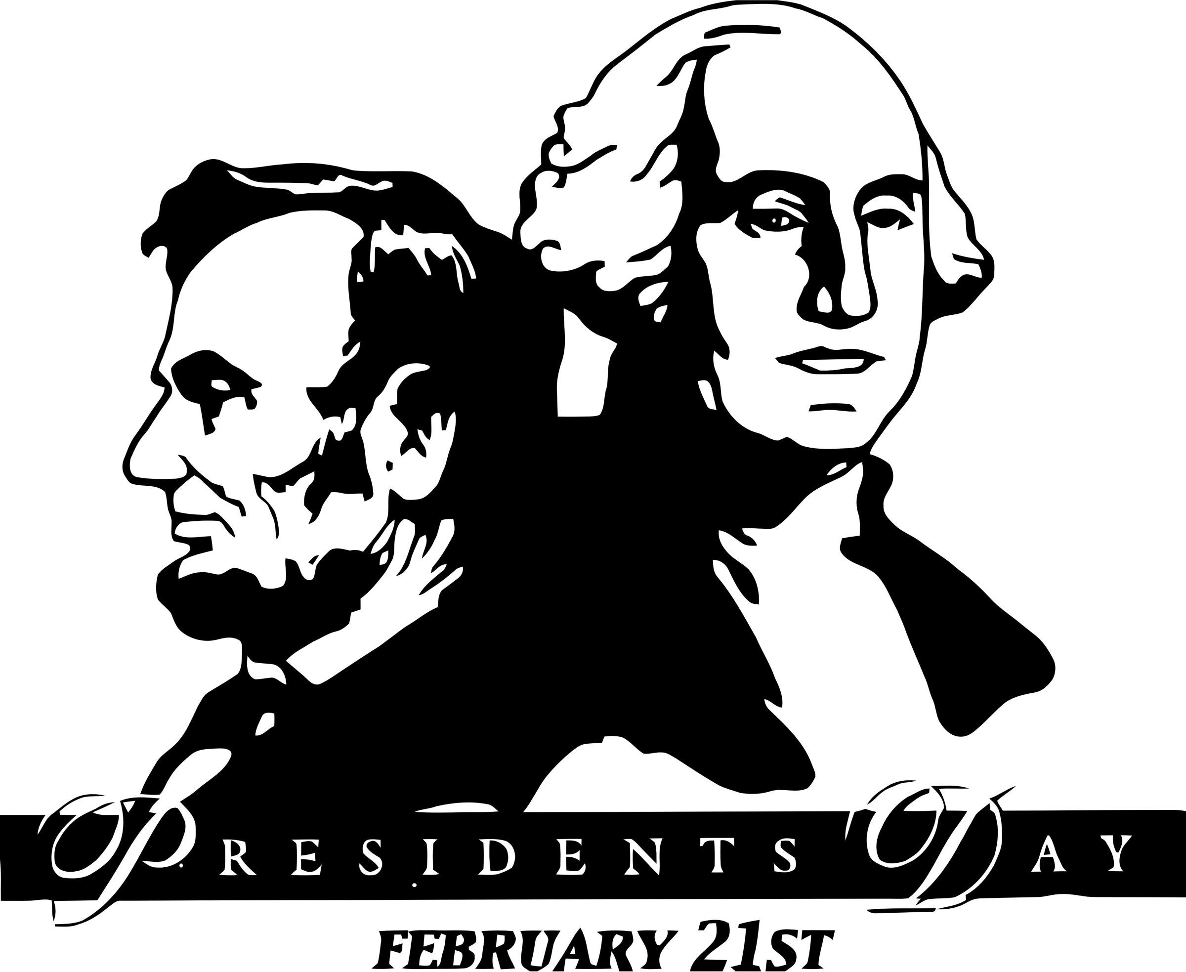 Closed clipart presidents day. Washington lincoln icons png