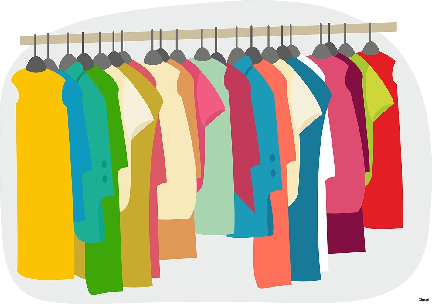 Clothing clipart closet full clothes. Best of design digital