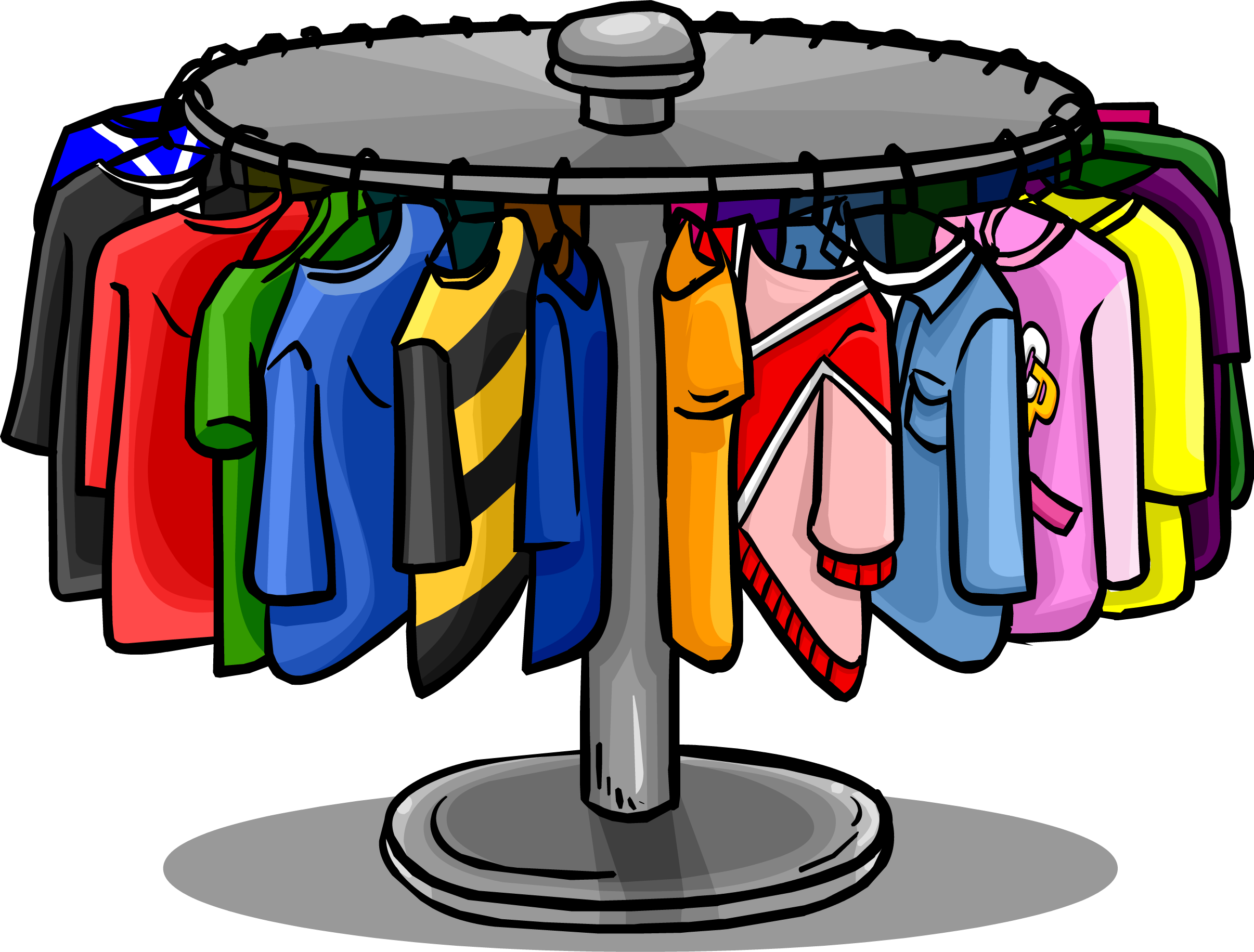 Clothing clip icon. Collection of clothes