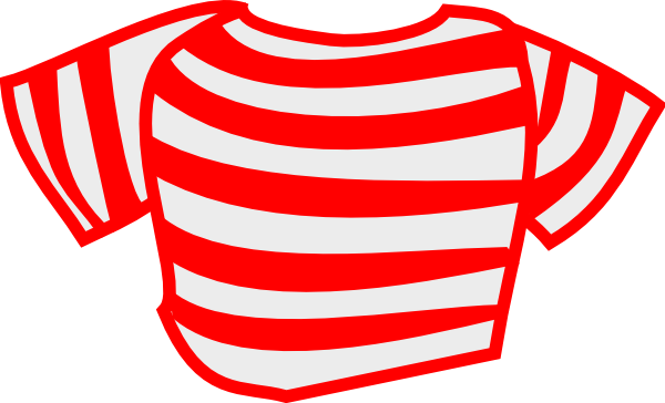Clothes clipart striped shirt.