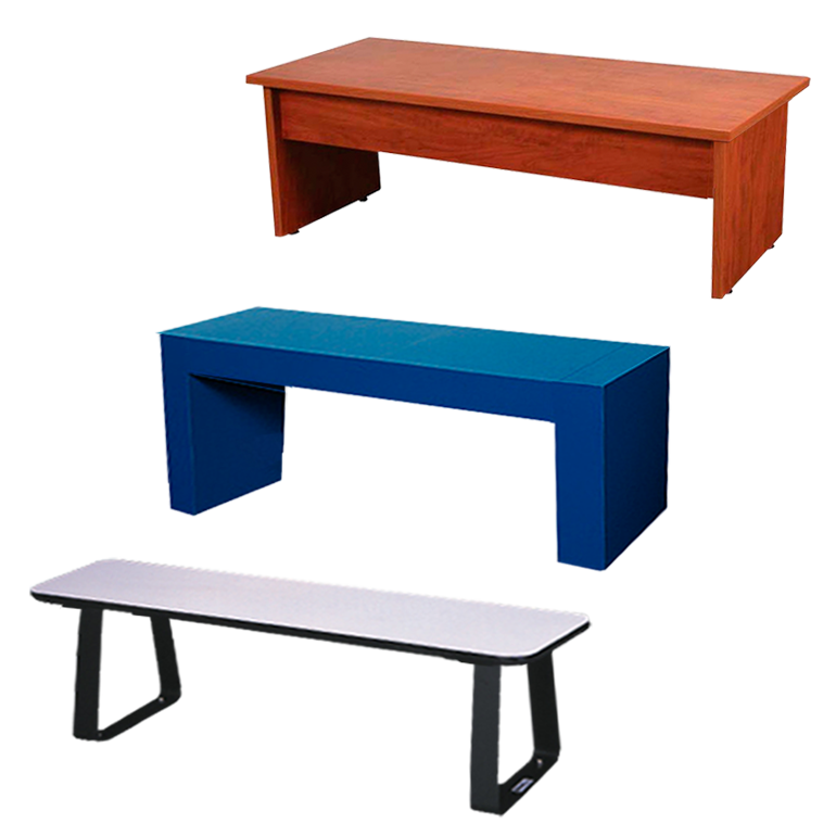 Clothes on locker room bench png