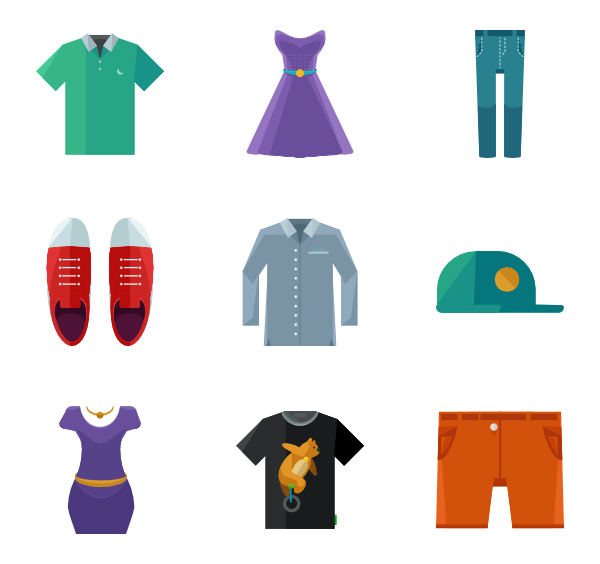 Vector clothes. Form icon packs png