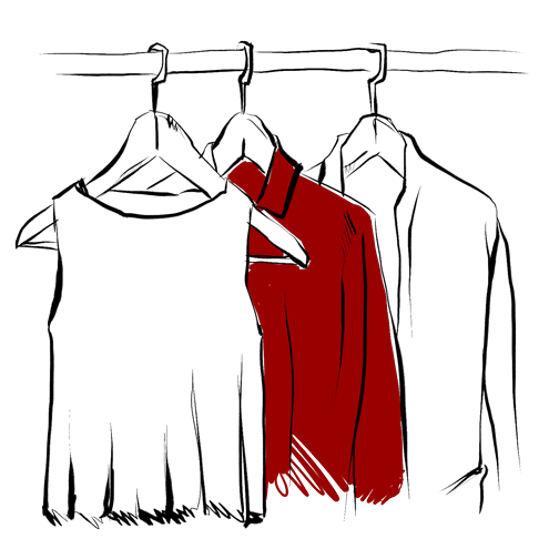 Wardrobe drawing closet full clothes. Free download transparent transparentpng
