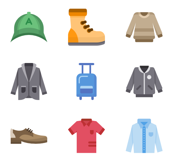 Vector clothes. Icon packs svg