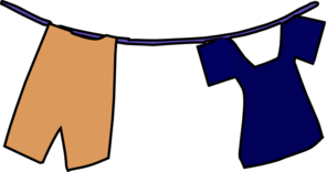 Clothesline clip. School uniform on art
